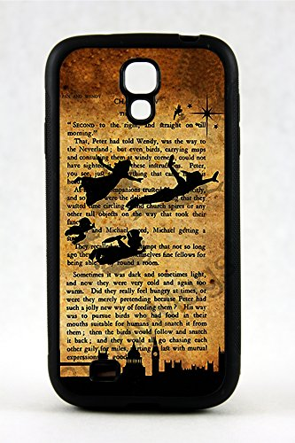 Samsung Galaxy S4 Rubber Case Cover Peter Pan 1911 novel Quote Tinkerbell Neverland Phone Fairy Princess