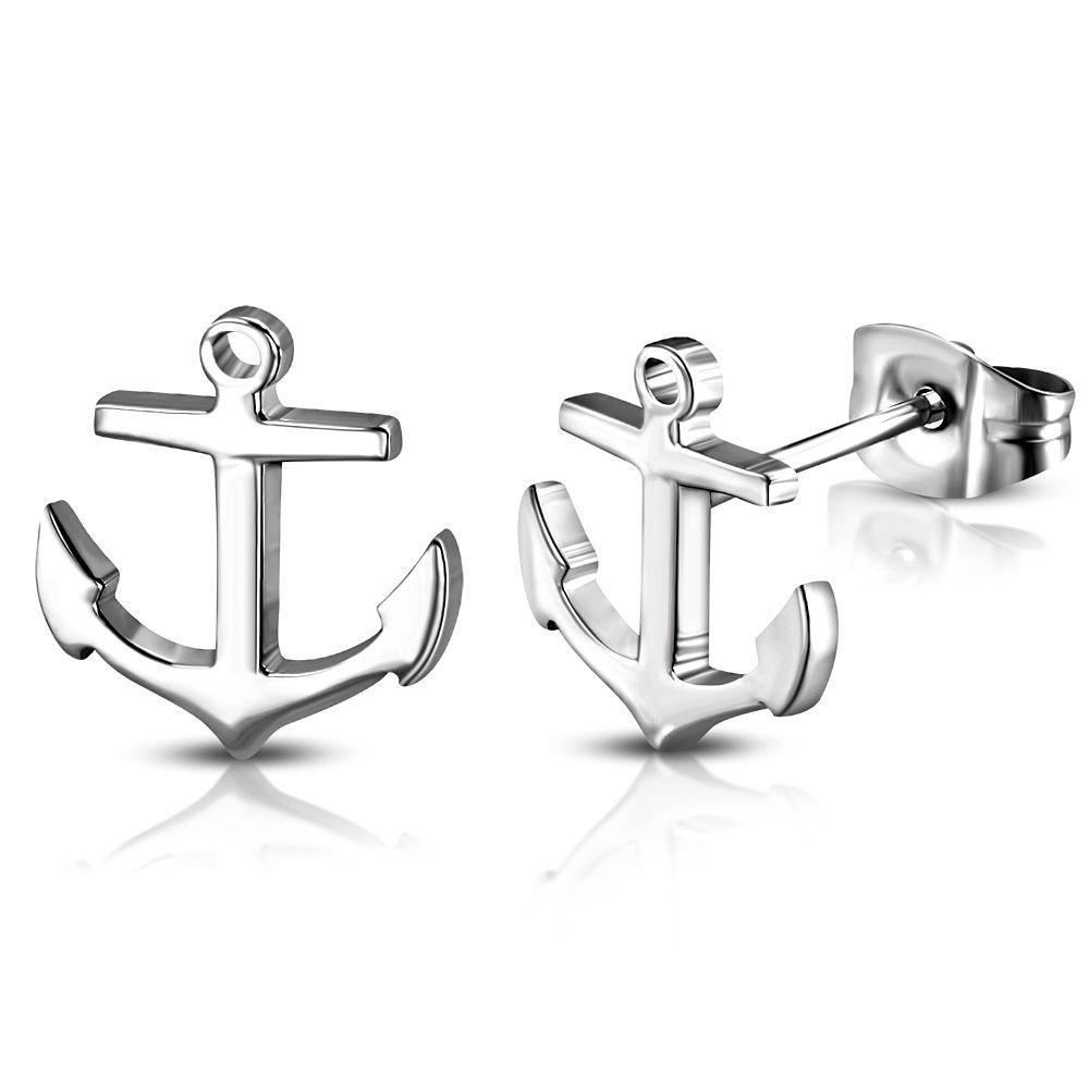 Anchor Marine Yacht Cadena Colgante Amuleto Medall/ón Charm Beads Acero Quir/úrgico Mujer Hombre Joyas Bungsa Ancla Pendant Acero Inoxidable Plata