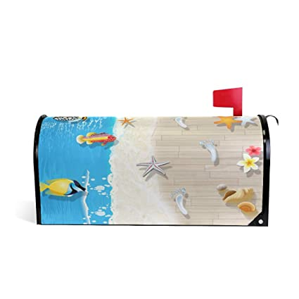 Amazon.com : Mailbox Covers 3D Ocean Beach Fish Summer Magnetic Decorative Mail Cover Letter Post Box Standard Size : Garden & Outdoor