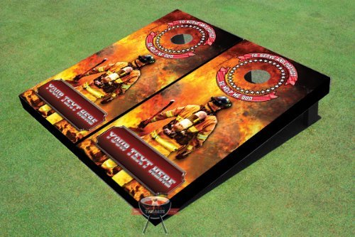 Fire Fighter Custom Cornhole Boards