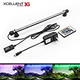 Xcellent Global Remote Control Underwater 18 LED Aquarium Light Fish Tank Lights Submersible Waterproof RGB 40cm 16 Color Changing