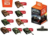 World of Tanks Sweet Box with big 3d Toys from Games and Gummi candys Mini 1:72 Scale, Assorted Color