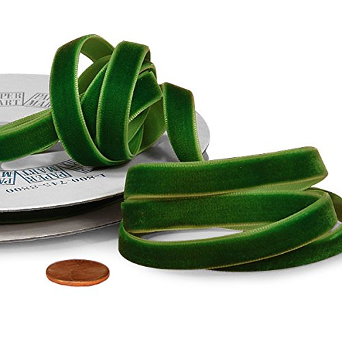 Emerald Green Velvet Ribbon, 3/8