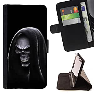 BullDog Case - FOR/Apple Iphone 6 / - / Grim Reaper Hooded Death /- Monedero de cuero de la PU Llevar cubierta de la caja con el ID Credit Card Slots Flip funda de cuer