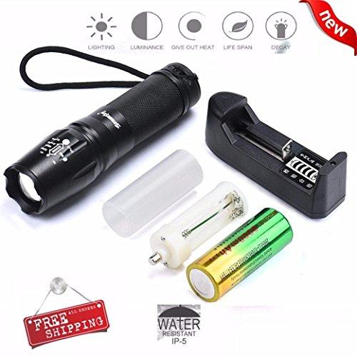 LANDFOX G700 X800 SKYWOLFEYE CREE XML T6 LED Flashlight Tactical Zoom Super Bright