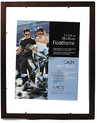 Same Shipping Any Qty MCS 11x14 Solid Wood Silver Leaf Picture Frame