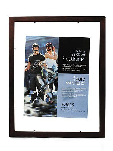 (MCS Solid Wood Float Frame walnut 11 in. x 14)
