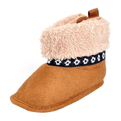 Chaussures Bébé,Fulltime® Bébés garçons filles douce Sole Réchauffez Flats coton Bottes Chaussures enfant