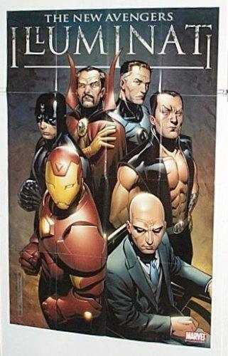 Avengers Illuminati 36 x 24 Marvel Comics Store Window Display Promo Poster: Iron Man/Dr Strange/Namor Submariner/Black ()