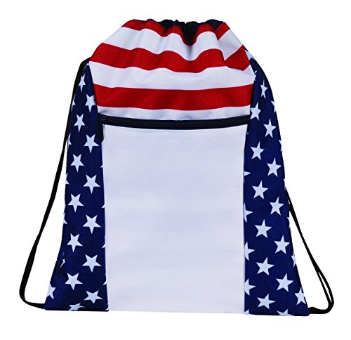 Stripes Drawstring Backpack Bookpack Bags