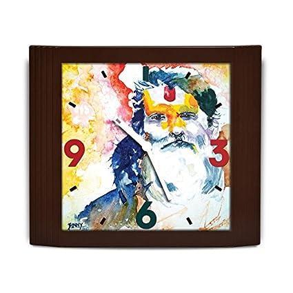 Buy Bluegape Binny malik Indian Sadhu Art Wall clock Yellow Online