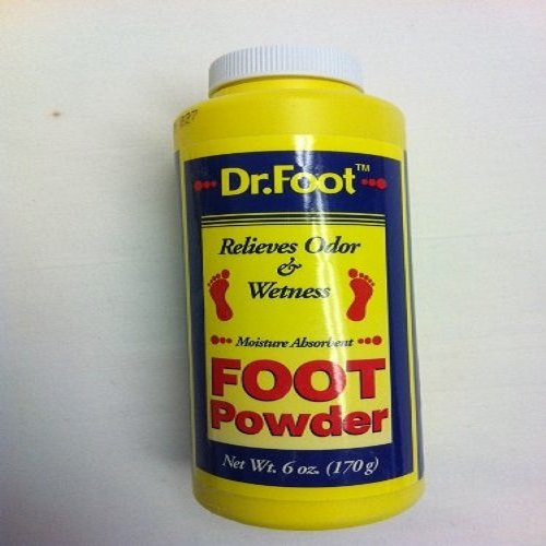 Dr.foot Foot Powder Relieves Odor & Wetness 2 Bottles of 6 Oz Bottle by Dr Foot