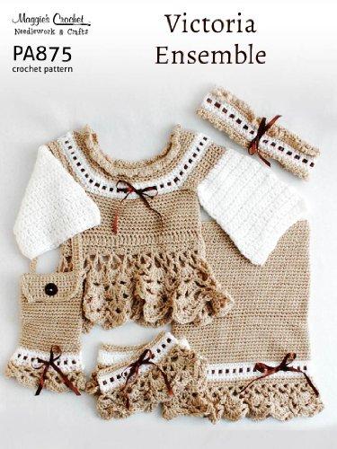 - Crochet Pattern Victoria Sweater Ensemble PA875-R