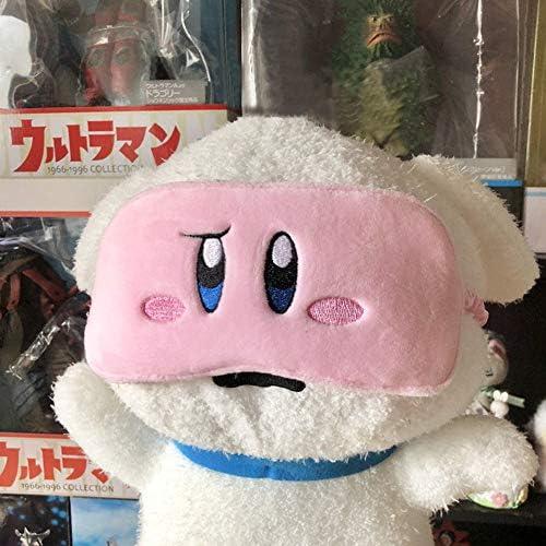 Kirby Star Plush Eye Mask for Women Girls Home Sleeping Traveling Pink