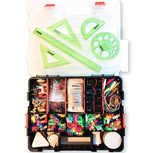 Cardboard Construction Kit with LED Lighting - Educational with Over 900 Pieces, Perfect for Learning STEM, STEAM, and Circuits in School and at Home by 3DuxDesign GOBOXPRO10 by 3DUX DESIGN (Image #1)