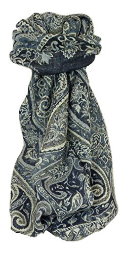 Muffler Scarf 8353 in Fine Pashmina Wool from the Heritage Range by Pashmina & Silk by Pashmina & Silk (Image #4)