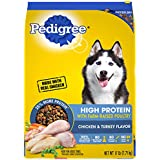 PEDIGREE High Protein Adult Dry Dog Food Chicken and Turkey Flavor, 17 lb. Bag