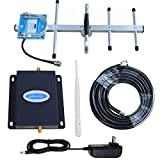 Cell Phone Signal Amplifier AT&T 4G LTE 700Mhz Band12/17 Phonelex Mobile Booster Repeater with Outside YaGi Directional and Inside Whip antennas Kits