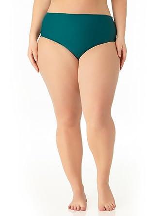 45792d37decc6 Amazon.com  Catalina Women s Plus Size Teal High Waist Swim Bottom  Clothing