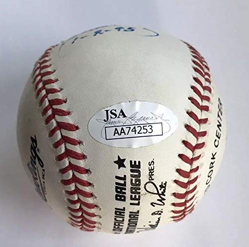 """RED MURFF AUTO AUTOGRAPH SIGNED ONL BASEBALL""""I SIGNED NOLAN RYAN ON 6 26 65"""" NEW YORK METS SCOUT COA JSA"""