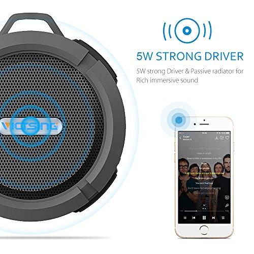 VicTsing Shower Speaker, Wireless Waterproof Speaker with ...