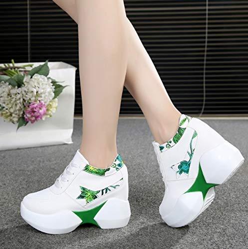 Zeppe Leggerissime Ysfu Scarpe Plateau Altezza Donna Sneaker Maggiorata Casual 10cm Da Zeppa Rialzo Nascoste Esterno Con Sneakers wAprIaRBqA