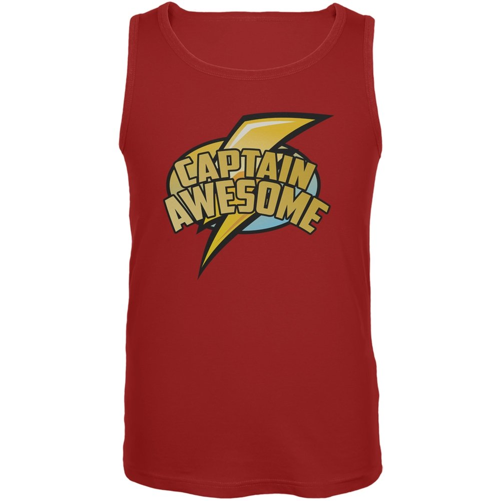 Old Glory Captain Awesome Red Adult Tank Top