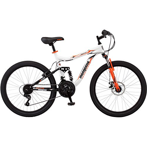 21-speed Shimano Revo 24'' Mongoose Trail-ready and Durable yet Surprisingly Quick, White by DVT