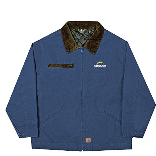 NFL San Diego Chargers Tradesman Canvas Quilt Lined Jacket, Navy, Medium