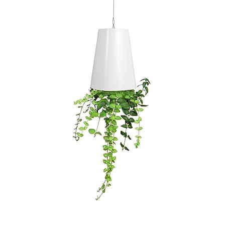 225 & Upside Down Hanging Pot Vase Planter Hanging Suspension Flower Pot Balcony Garden Home Decoration White
