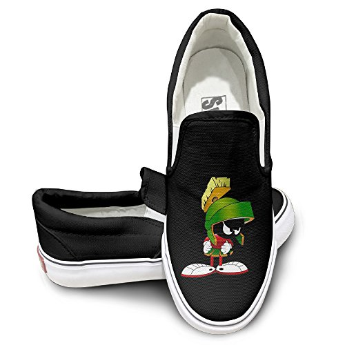 [HYRONE Marvin The Martian Movie Fashion Sneakers Shoes Sporting Black] (Looney Tunes Martian Costume)