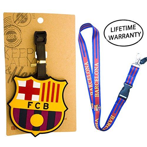 Flag Car Barcelona - DIYJewelryDepot FCB Football Club Barcelona Luggage Tag + Lanyard ID Holder Futbol Travel Pack