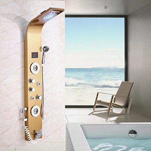 Sistema de masaje con columna de ducha de lluvia con ducha de ...
