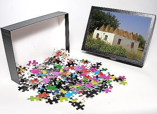 Photo Jigsaw Puzzle of Rooftop used to dry cereal crops, for fodder, Anatolia, Turkey, Asia Minor,