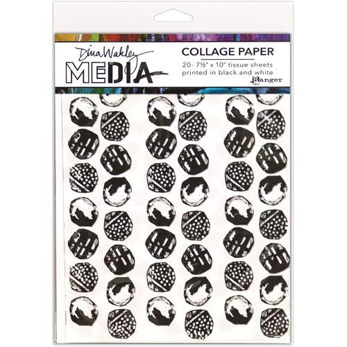 Dina Wakley Media Collage Tissue Paper - Backgrounds