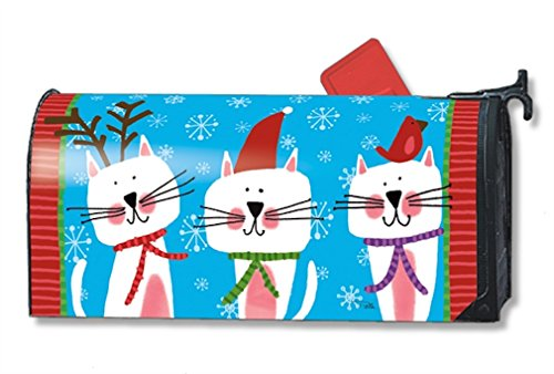 Mailwraps Cat - MailWraps Meowy Christmas Mailbox Cover #01262