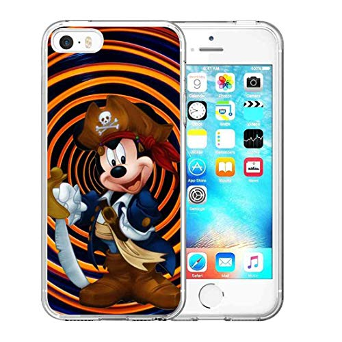 DISNEY COLLECTION Pirate Mickey Mouse Compatible with Apple iPhone 5S (2013) or iPhone SE (2016) or iPhone 5 (2012) 5.5 Version