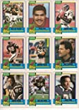 San Diego Chargers 1990 Topps Football Team Set (Junior Seau Rookie) (Billy Joe Tolliver) (Bily Ray Smith) (Marion Butts) (Leslie O'Neal) (Gary Plummer) (Anthony Miller) (Gill Byrd) and More