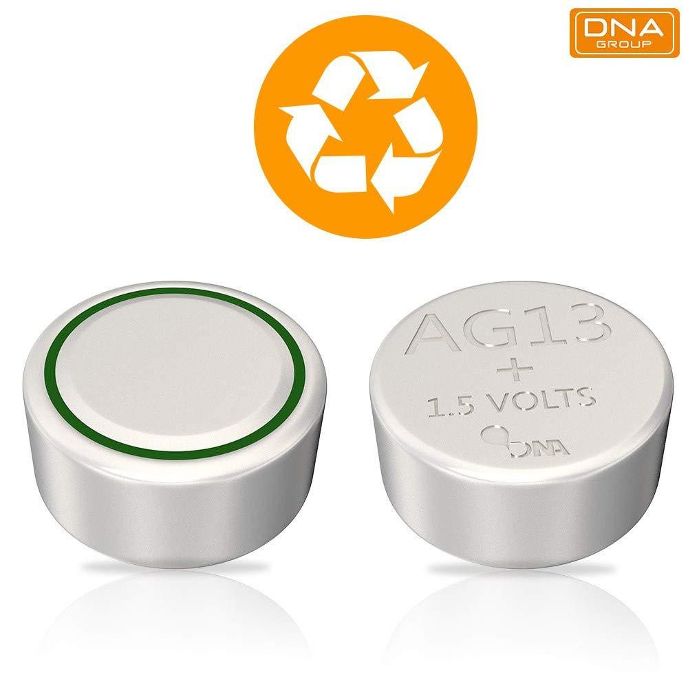 Multicolour DNA 20 X AG13 LR44 Battery Pack of 20