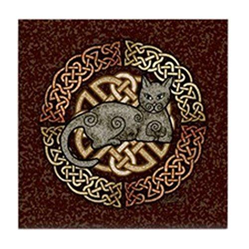 - CafePress - Celtic Cat - Tile Coaster, Drink Coaster, Small Trivet