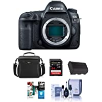Canon EOS 5D Mark IV Digital SLR Camera Body USA Warranty - Bundle with 64GB U3 SDXC Card, Camera Bag, Spare Battery, Cleaning Kit, Software Package