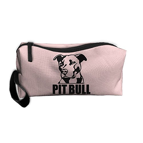 - Roomy Cosmetic Bags With Zipper For Travel Proud Pit Bull Portable Ladies Hand Bag