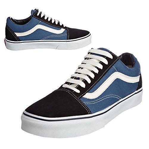 6d5cf7c6d8 Galleon -  Vans Old Skool Navy White Classics Skate Shoe Unisex Sneakers  Canvas (US Men 6 - Women 7.5)