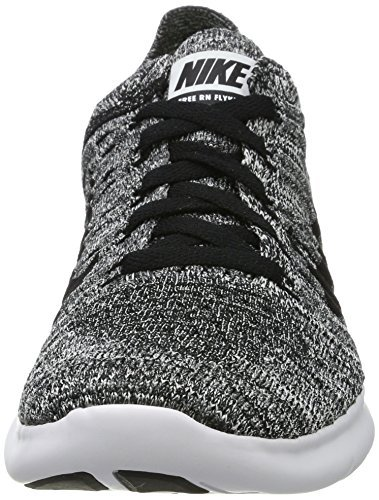 Nike Kid's Free RN Flyknit GS Running Shoes (5.5 M US, White) by NIKE