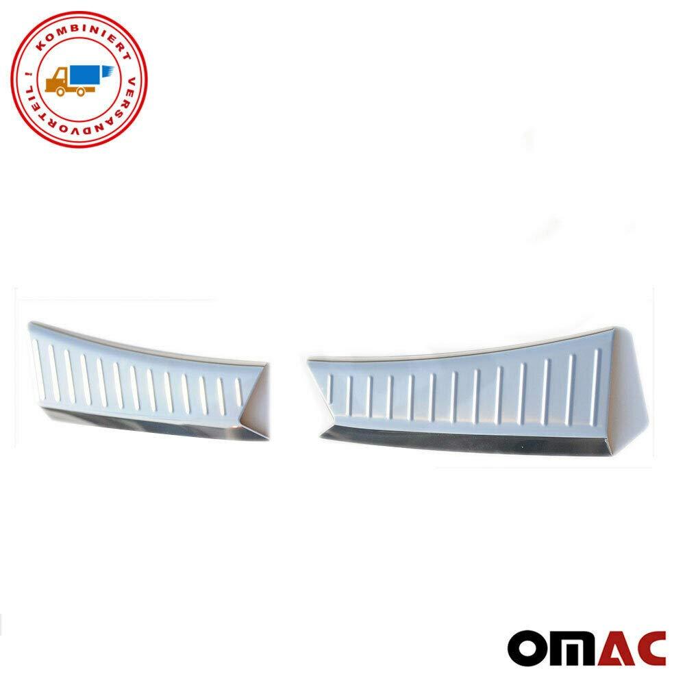 Protezione paraurti posteriore /& interno Set 3 pezzi protezione paraurti in acciaio inox cromato con smussatura per KUGA 2