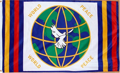 Amazon World Peace Flag 3 Foot By 5 Foot Polyester New