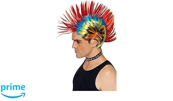 Smiffys Peluca de punk de la calle de los 80, mohicano: Amazon.es: Juguetes y juegos
