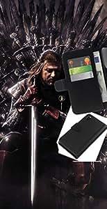 NEECELL GIFT forCITY // Billetera de cuero Caso Cubierta de protección Carcasa / Leather Wallet Case for Sony Xperia Z3 D6603 // Tronos Serie