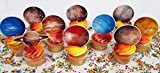PLANETARY Space Solar System Nasa Exploration Planet Cupcake Topper Set