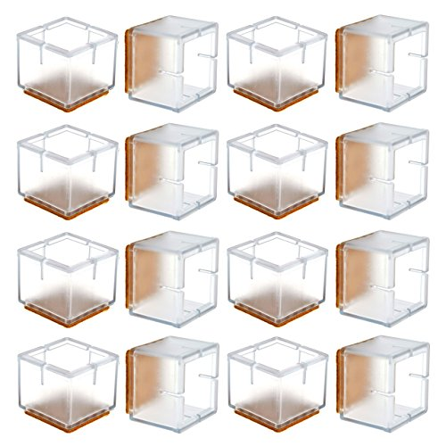 Warmhut Chair Leg Floor Protectors 16pcs Transparent